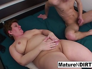 Lush granny gets a cock in her booty