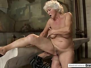 Norma fucks a fat dude