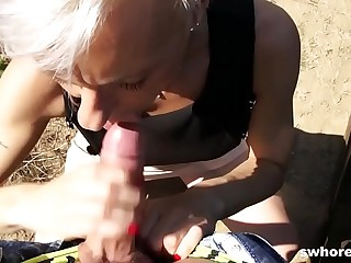 Mature euro hooker gets picked from the street and fucks