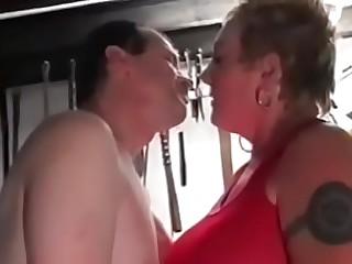 Kinky British Grandma Slut Rona'_s Basement Gangbang