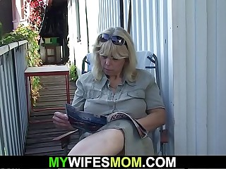 Wifey finds her old mother and husband fucking