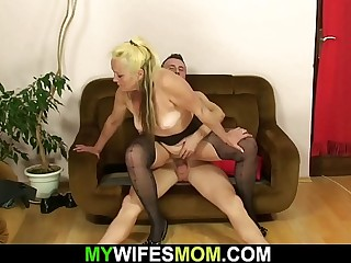 Hot taboo sex with mom inlaw