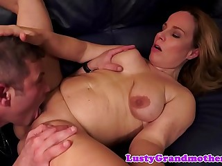 Pussylicked european granny fucked deeply