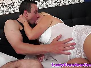 Bigbooty granny fucking and sucking cock