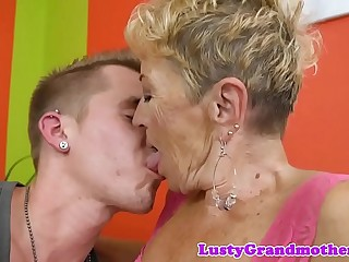 European granny loves getting fucked