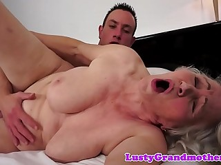 Chubby grandma fucked from behind after oral job