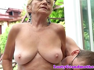 Lovely granny banged doggystyle
