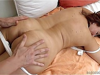 Granny got fucked after massage - Crimson Mary