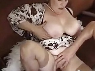 Fat And Big-titted Granny Enjoying A Cock