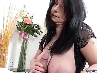 If you like granny handjobs, look no further than this over40handjobs video. She has big hooters and she handjobs a big cock. She puts years of cock milking experience to work!