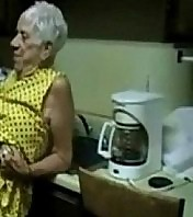 Old Granny gets screwed by