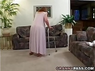 Redhead Granny Proves Her Skills