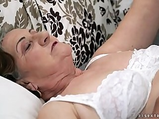Hairy granny pussy pounded deep
