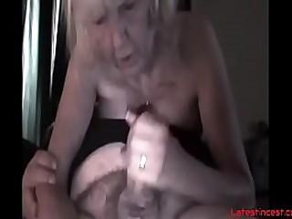 Nasty granny screws own grandson after drinks