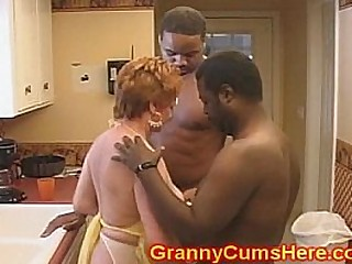 Granny Fuckslut FUCKED in her KITCHEN by BBC