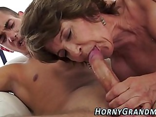 Cummy mouthed granny blow