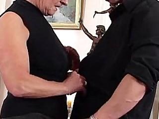 German granny is horny as fuck
