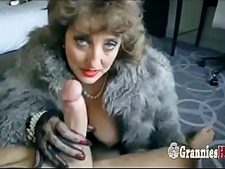 Classy Granny Brown-haired Loves To Suck Big Young Hard-on