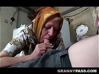 Buxomy Granny Share Grandpa's Cock With A Teenage
