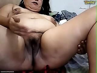 Pretty 50yo Filipina Granny Prettywildmatured4fun Gets Dirty on CB