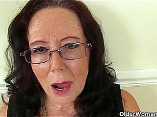 British granny Zadi screws herself