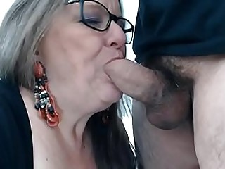 See her live on: Vexcams.com Wild granny enjoyes deepthroating cock