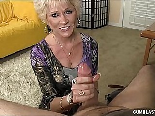 Topless Granny Splattered WIth Jizz
