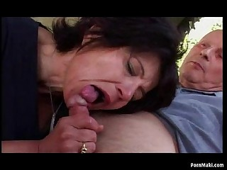 Granny Outdoor Anal Lovemaking