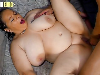 AMATEUR EURO - BBW Granny Hanne Goes For Some Super Hot Sex With Her New BF