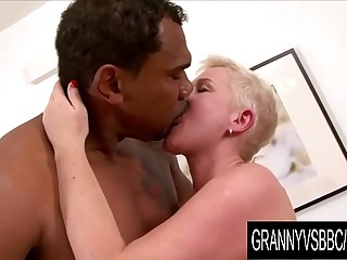 Granny Vs BBC - GILF DD Gets Passionately Licked and Dicked by Her Black BF