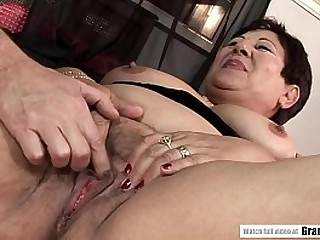 Old BBW Granny Enjoying her Younger Toy