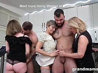 Watch Three Grandmas Get Into Cock Struggle