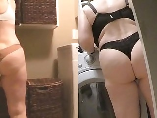 MarieRocks 60  GILF Engulfs ass in thongs