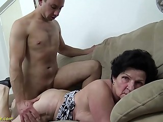 extreme hairy 86 years old mom needs a youthfull dick