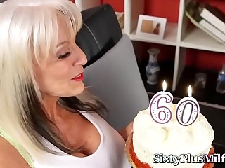 Granny Gets Hard-core Anal on Her 60th Birthday