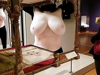 Busty mature hottie body as a work art