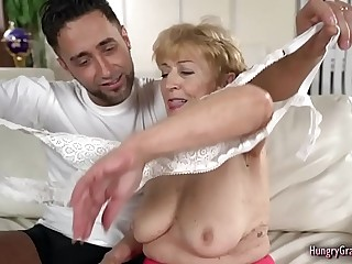 Horny Granny Enjoys With a Big Hard Cock